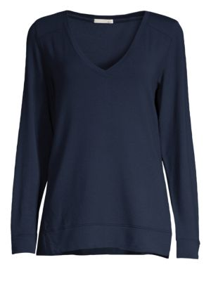 : French Terry Fianna Top in Navy