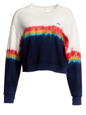 Rainbow Tie Dye Sweatshirt in White