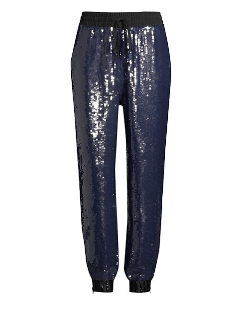 Sequined Track Pants