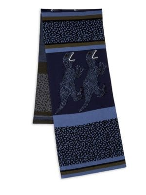 PAUL SMITH Dino Stripe Knit Scarf, Navy