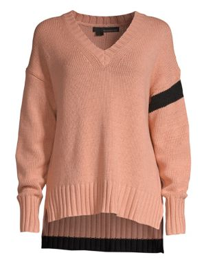360CASHMERE Barbara High-Low Sweater in Nectar Black