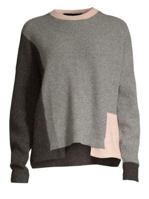 360cashmere Akima Colorblock Cashmere Sweater