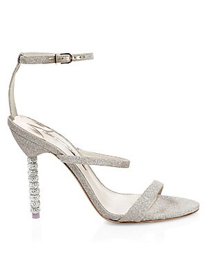 3a0ba028920 Sophia Webster - Rosalind Crystal Glitter Leather Ankle-Strap Sandals