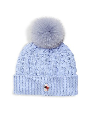 ae0cda3fa57 Moncler - Grenoble Fox Fur Pom Pom Wool Beanie - saks.com