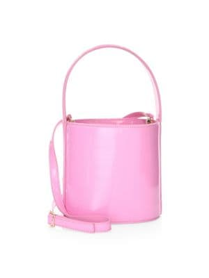 Bissett Patent Leather Bucket Bag in Pink