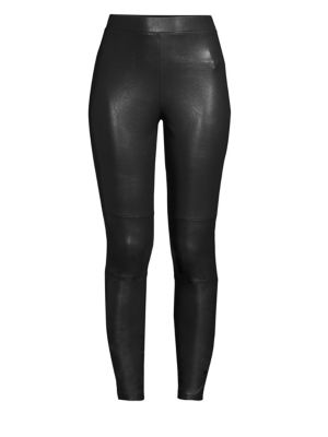 Downtown Faux Leather Leggings, Black