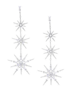 Nova Crystal Star Drop Earrings by Adriana Orsini