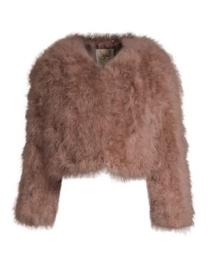 Cropped Feather Jacket by Pello Bello