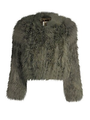 1c22a878a07b8 Pello Bello - Cropped Feather Jacket