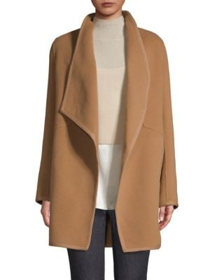 Christina Double Face Wool Car Coat in Beige