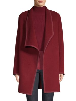 Christina Double Face Wool Car Coat in Red