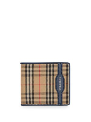 BURBERRY 1983 House Check Billfold Wallet in Neutrals