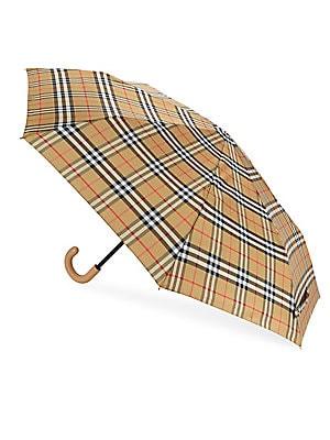 459827b9893 Burberry - Trafalgar Vintage Check Umbrella - saks.com