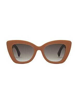 0319d2f0acf8 Fendi - 70mm Logo Print Cateye Sunglasses - saks.com