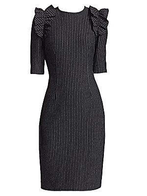 6b1be83b88b Teri Jon by Rickie Freeman - Pinstripe Sheath Dress