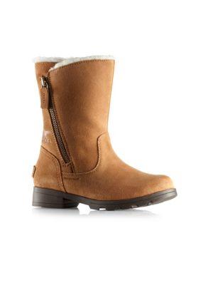 Sorel Kid S Emelie Fold Over Suede Boots