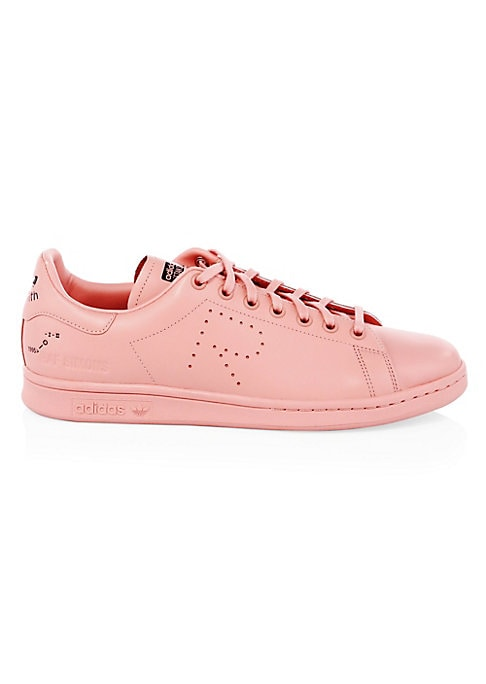 Image of Essential leather sneakers with signature perforated detail. Leather upper. Round toe. Lace-up vamp. Rubber sole. Imported.