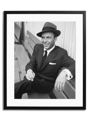 Sonic Editions Frank Sinatra On A Bench Framed Photo