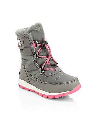 ad57e9a8fcaf Sorel - Kid s Whitney Waterproof Faux Fur Lace-Up Boots - saks.com