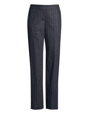 Fulton Stretch Flannel Wool & Cashmere Pants, Ink Melange
