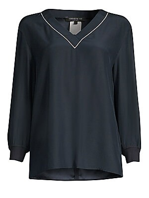 a99fe31ba7753 Ramy Brook - Velvet Cold-Shouldered Top - saks.com