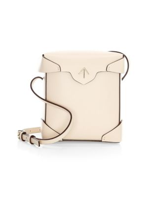 Manu Atelier Mini Pristine Leather Box Bag