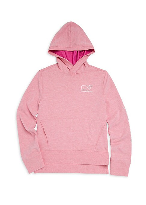 Image of Athletic hoodie features iconic brand's whale logo. Attached hood. Long sleeves. Rib-knit cuffs. Pullover style. Front kangaroo pouch. Step hem. Cotton/polyester/elastane. Machine wash. Imported.