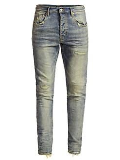 163d0f26 Purple Brand. P001 Slim Fit Distressed Jeans