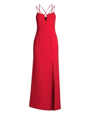Bcbgmaxazria Keyhole Side Slit A-Line Gown