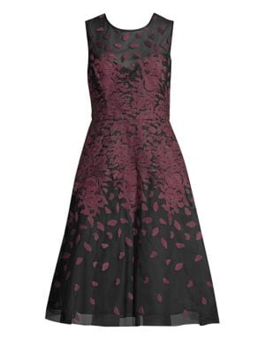 Floral Embroidered A Line Dress by Bcbgmaxazria