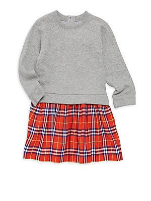 c7482afe5bba Burberry - Little Girl s   Girl s Francine Cotton Contrast-Skirt ...