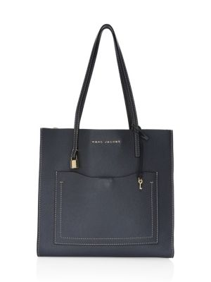 Grind T Pocket Leather Tote Bag by Marc Jacobs