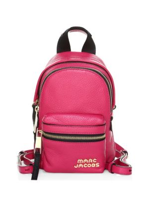 Marc Jacobs Leathers Micro Logo Leather Backpack