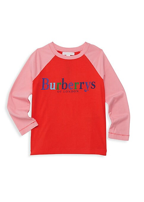 Image of A bright, vintage-inspired logo fronts soft baseball-style tee. Roundneck. Pullover style. Raglan long sleeves. Cotton. Machine wash. Imported.