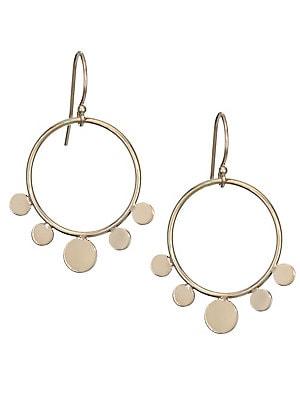 Zoe Chicco 14k Yellow Gold Disc Drop Earrings