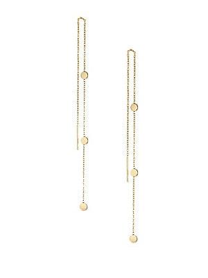 Zoe Chicco 14k Yellow Gold Disc Threader Earrings