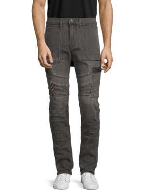True Religion Nomad Cargo Moto Slim Jeans