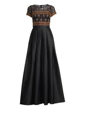 Embellished Top Dress by Aidan Mattox