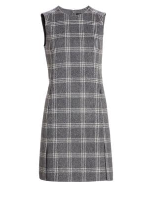 Windowpane Check Shift Dress by Theory