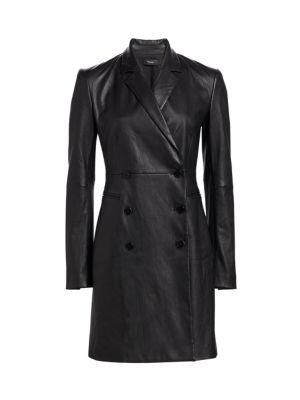 Leather Blazer Dress by Theory