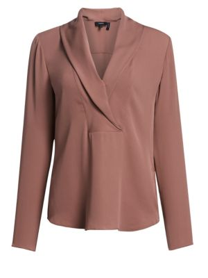 Silk Surplice Blouse by Theory