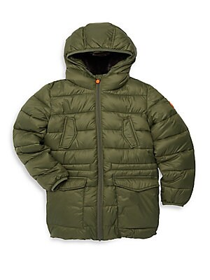 975fdaba733 Save the Duck - Little Boy s   Boy s Faux Fur-Lined Quilted Jacket