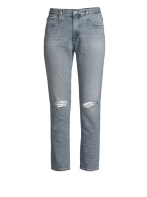 The Isabelle Ripped High Waist Ankle Straight Leg Jeans, 24 Years Hysteric Destructed
