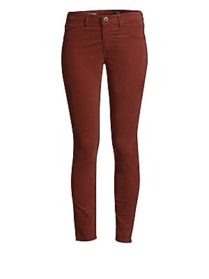 """Image of A classic corduroy look in a cropped, fitted silhouette. Belt loops Five-pocket style Zip fly with button closure Cotton/polyurethane Machine wash Made in USA SIZE & FIT Rise, about 8.5"""" Inseam, about 27"""" Leg opening, about 8.25"""". Contemporary Sp - Denim"""