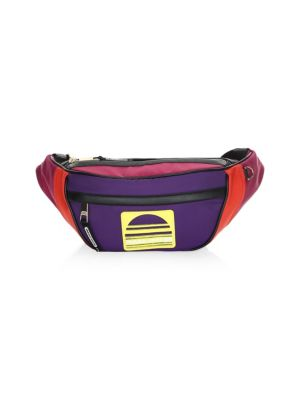 Color Block Sport Fanny Pack, Poppy Red