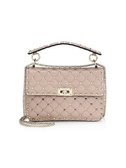 Valentino Garavani. Medium Rockstud Quilted Top Handle Bag ea0551a504e73