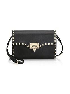 QUICK VIEW. Valentino Garavani. Small Rockstud Leather Shoulder Bag 53bda52a112ba