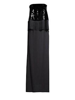4ec87ba785 QUICK VIEW. Sachin & Babi. Kezia Strapless Sequined Gown