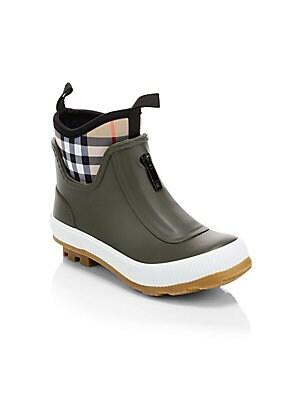 a874e83a75e Burberry - Kid s Flinton Rainboots - saks.com