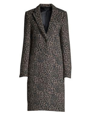 Rta Linings Jamson Leopard Print Coat